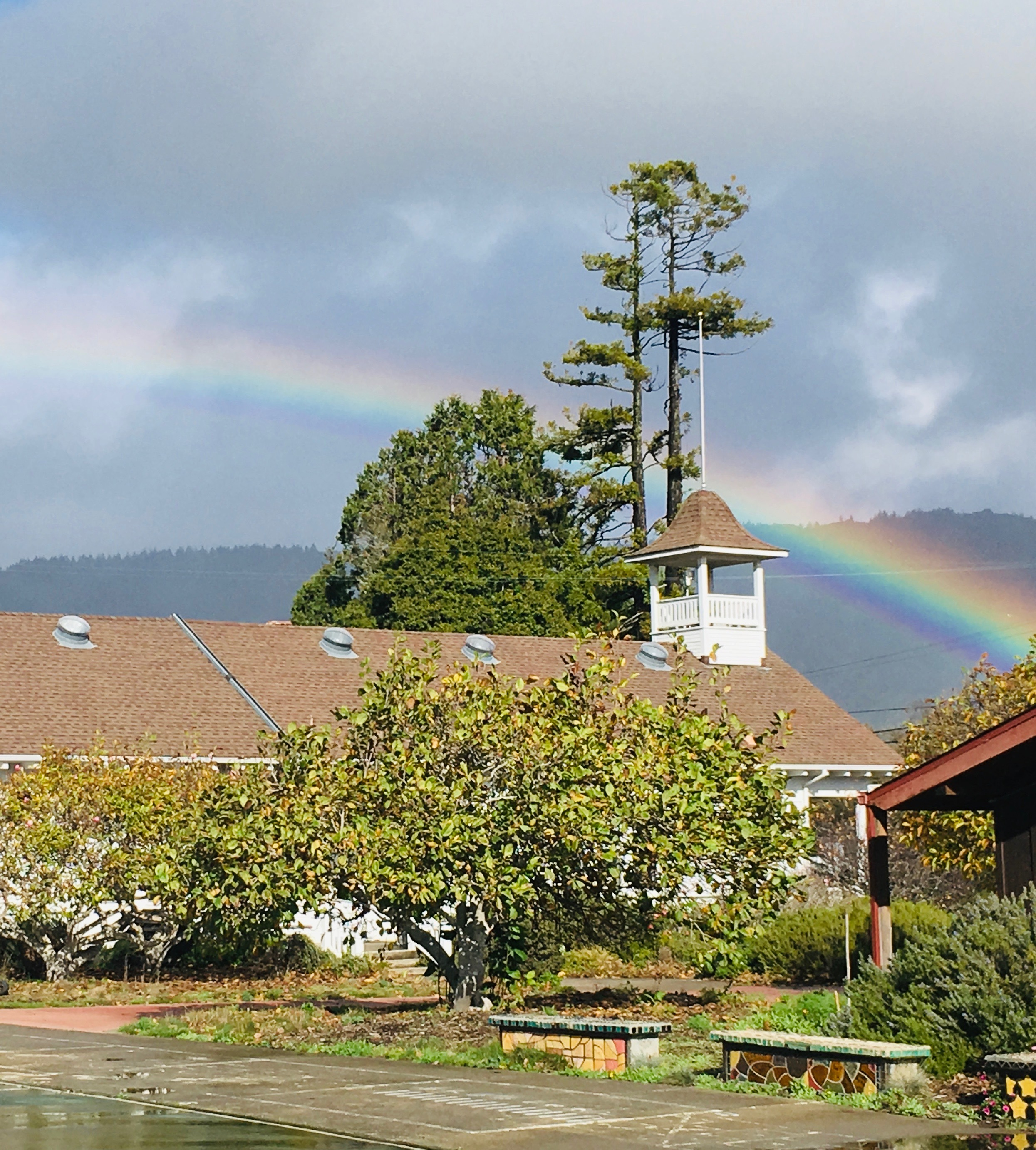 Bolinas Campus on a rainy day